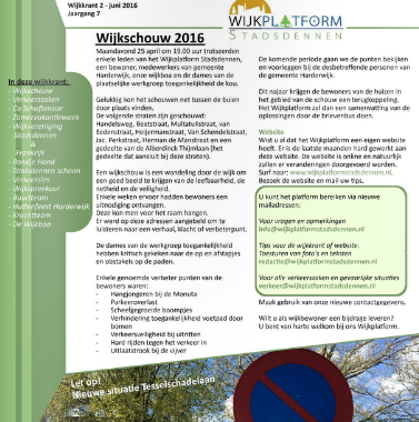 Wijkkrant 2 – Juni 2016