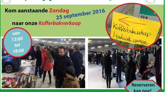 Kofferbakverkoop Zondag 25 September (morgen)